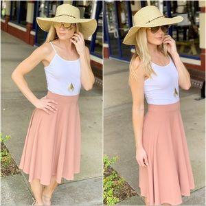 Infinity Raine Skirts - ✨LAST ONE✨Blush midi skirt